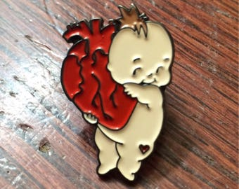 Heart On My Sleeve Kewpie enamel pin