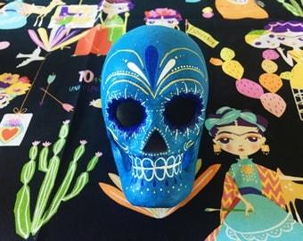 Primrose Paper Mache Skull