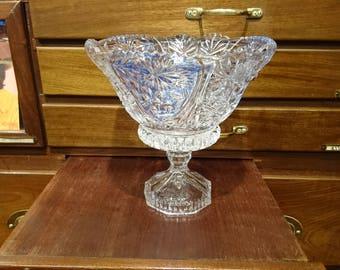 Vintage crystal bowl, Anna Hutte bowl, bleikristal bowl, leadcrystal bowl, Anna Hutte crystal, Anna Hutte Germany, Germany bleikristal