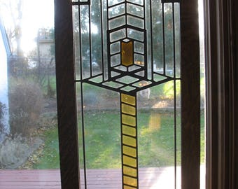 Prairie Style Stained Glass Window