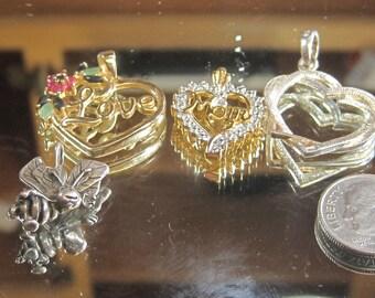 H-22 Vintage Pendants 925 silver