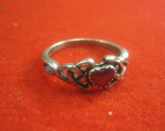 O-17 Vintage Ring size 10 sterling  silver