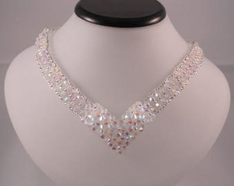 "Swarovksi crystal necklace ""Cascade"""