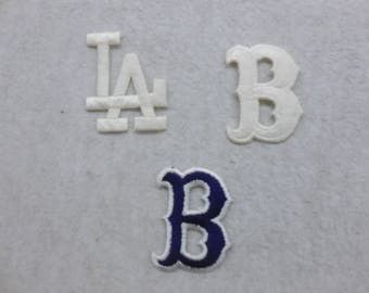 Los Angeles Brooklyn Dodgers Baseball Patches Three Options