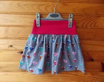 """skirt """"fairy"""" printed Fox the 2-9 years available"""