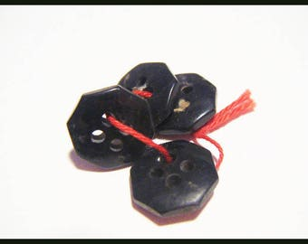 Set of 4 vintage black buttons which I no longer use