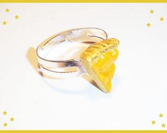 Resin tart apricots ring ♥ ♥