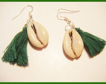 Earrings tassel was ♥ shell ♥