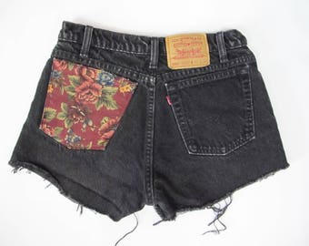 Reworked Vintage Levi Denim Cut Off Shorts