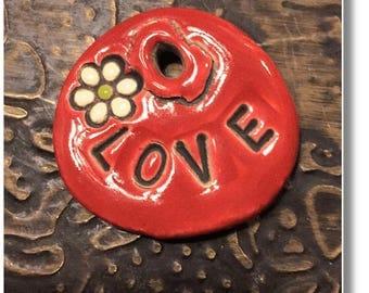 Love - Stoneware Pendant