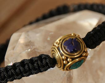 Bracelet with Tibetan nylon thread