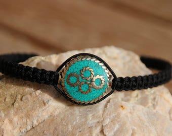 ethnic Tibetan turquoise Bead Bracelet