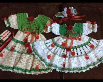 pdf crochet christmas dress pattern special price for 4 different patterns