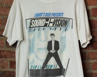 Vintage 1990 David Bowie Sound And Vision Canadian Concert T Shirt