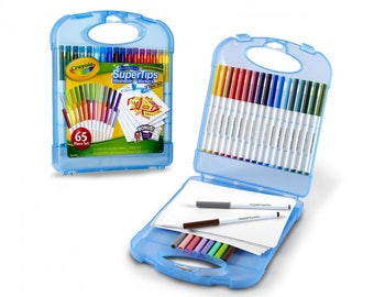Crayola Super Tips Washable Markers Art Kit - 65 Pieces