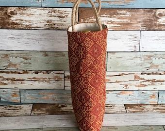 Tapestry wine tote