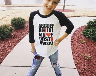 I Love You - Valentines Day Shirt - Kids Valentines Day Shirt - Girls Valentines Shirt - Boys Valentines Shirt - Baby Girl Shirt - Baby Boy