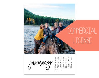 The 2018 Emily Photo Calendar // 5x7  // INCLUDES COMMERCIAL LICENSE