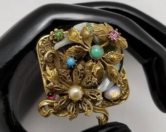 Ornate Faux Gem Pin/Pendant