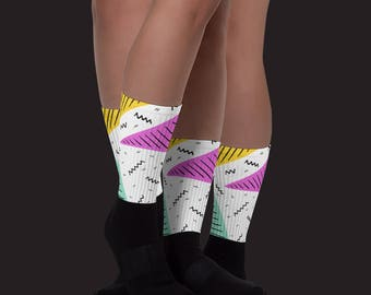 Confetti style unisex Socks, great for back to school or couple gift - your perfect warm socks for the fall season