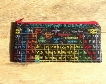 Periodic table pencil case, periodic table print, periodic table print, teacher gift, science gift, science print, chemistry gift