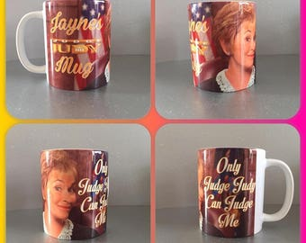 personalised mug cup judge judy american tv only can judge me bianca del rio :)