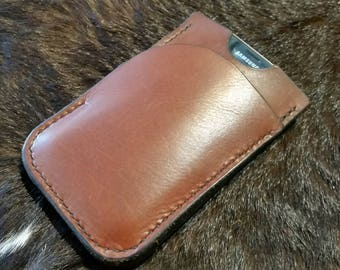 Handmade wallet + phone pouch in one