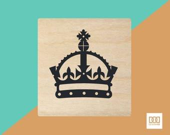 Crown - 1.5cm Rubber Stamp (DODRS0213)