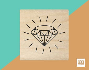 Diamond - 3cm Rubber Stamp (DODRS0052)