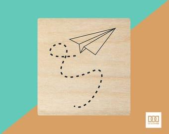 Paper Plane - 3cm Rubber Stamp (DODRS0110)
