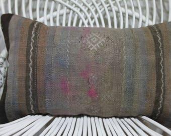12x20 sarikayakilimpillows 12x20 throw pillows 12x20 lumbar pillow 12x20 cushion cover 12x20 covers 12x20 pastel striped kilim pillow  1263