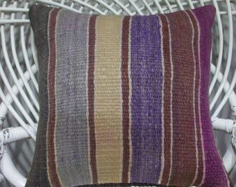 16x16 throw pillows 16x16 bohemian throw pillow16x16cushions coussin kilim 16x16 pale striped kilim pillow 16x16 moroccan floor pillow 3771