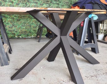 Modern steel table base