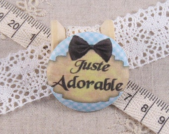 x 1 38mm fabric button just adorable ref A13