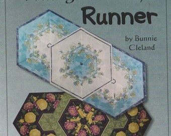 SALE! Triangle Frenzy Runner - Pattern - by Bonnie Cleland - Using 60 degree ruler