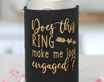 SALE!! Engagement Gift- Does this ring make me look engaged- Engaged AF- Bachelorette Party- She said Yes- Bridal Shower Favors- Future Mrs