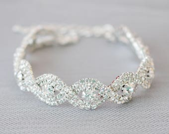 Vintage Wedding Bracelet, Bridal bracelet, Crystal Wedding bracelet, Wedding jewelry, Crystal bracelet, Ref ALICIA
