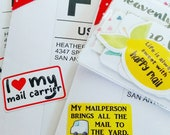 My Mailperson Brings All The Mail To The Yard - Custom Sticker, Packaging Sticker, post office, usps, fedex, dhl
