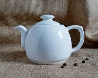 Teapot white For christmas gift for bride from mom gifts for friends women gift ideas Xmas gift for wife birthday Stoneware pottery teapot