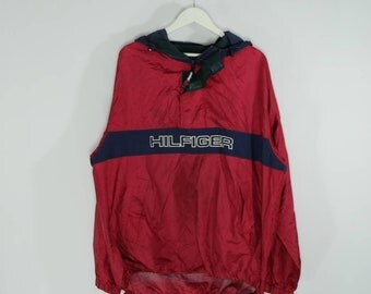 Vintage Tommy Hilfiger Spellout Lightweight Jacket 90s Cagoule