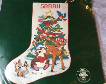 Counted cross stitch stocking