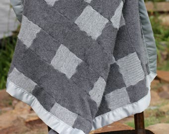 100% Cashmere Baby Blanket Recycled Cashmere