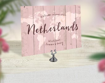 Wedding Table Numbers, Travel Theme Wedding, World Map Table Numbers, Rustic Wedding Decor, Boho Table Cards, Vintage Map Wedding Stationery