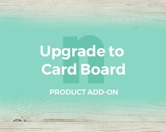 Product add-on/upgrade: Print your travel map on a card board