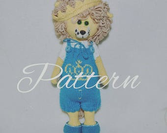 PATTERN Amigurumi doll / Animal toy / Crochet bear toy / Handmade toy / Knitting toy / Pets toy / Leo the lion toy / Eco toy