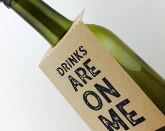 Mr & Mrs Wine Bottle Gift Tags