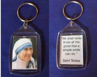 Cute Mother Teresa keychain/Saint Teresa Keychain/religious keychain.
