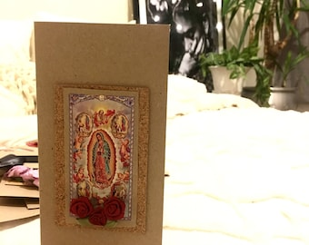 Our Lady Guadaloupe Greeting Blank Card tanned