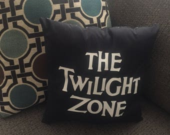 Twilight Zone inspired pillow
