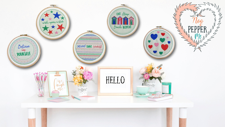 Sale modern hand embroidery pattern beginner